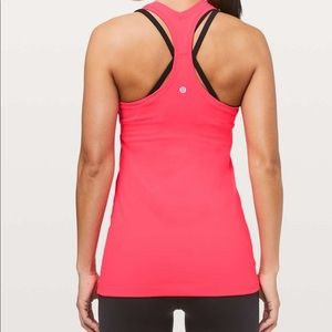 Lululemon Cool Racerback Size 4 in Electric Coral